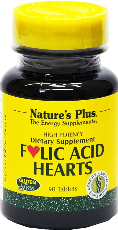 Folic Acid Hearts, Vitamin-B-Komplex, 90 Tabl.