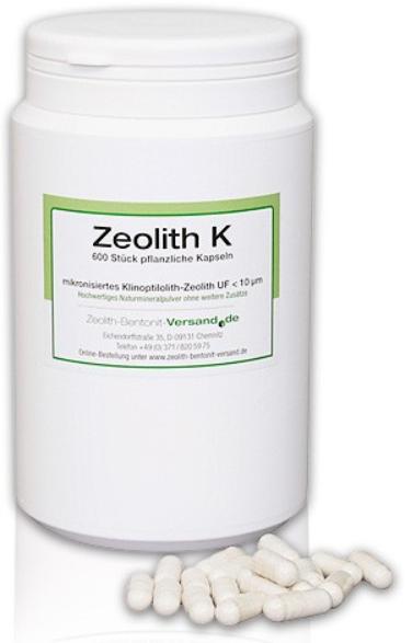 Zeolith Kapseln natürlich-vulkanisch, 600Stk für 100 Tage hier bestellen