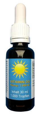Vitamin D3 flüssig, 1000 IE hier bestellen
