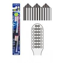 Ersatzbürsten zur Ionen Zahnbürste mit gezacktem Bürstenkopf