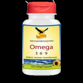 Omega 3-6-9 Fettsäuren, 150 Kaps zu je 1.000mg