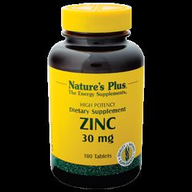Zinc 30 mg von Natures Plus, 180 Tabs