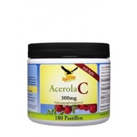 Acerola Vitamin C Kaupastillen mit Xylit & Kirschgeschmack, 180 Tabs