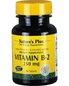 Vitamin B2 250 mg, Riboflavin, 60 Tabs