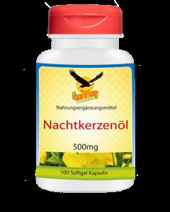 Nachtkerzenöl (Vitamin F) 500 mg, 100 Kapseln
